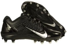 uk availability b5488 51a1d Mens Alpha Pro TD Football Cleats (Black Metallic Silver Size -- Check out  this great product. (This is an affiliate link) 0