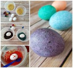 Instead of just buying the regular old Easter egg dying kits from the store, try some unique ideas this year! Here are awesome ones that will surely make the kids smile. Click on the links to get directions. Oil Easter Eggs – Put drops of oil into your dye/water/vinegar cup and roll around the egg …