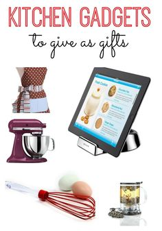 Is someone on your list a sucker for kitchen gadgets? Here are a few of my favorite kitchen gadgets to give as gifts.