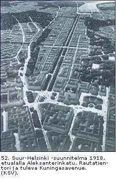Kuningasavenyy. Eliel Saarisen Suur-Helsinki-suunnitelma 1918.