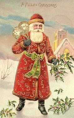 Victoriana's Victorian Santa Gallery Page 17 Vintage Christmas Images, Merry Christmas, Victorian Christmas, Vintage Christmas Ornaments, Father Christmas, Christmas Greetings, Christmas Mantles, Christmas Postcards, Christmas Christmas