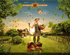 Country of harvest by Biff Tenon, via Behance