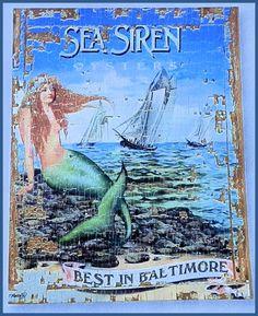 Sea Siren Oyster Canvas by ShabbyCrabby on Etsy, $39.99