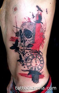 polka trash tattoo - Google Search