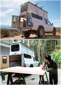 Spice up your family camping with these 5 homemade DIY camper shell plans that you can build cheaply by yourself on your vehicles to save money on camping. Truck Topper Camping, Truck Bed Camping, Truck Tent, Tent Camping, Family Camping, Camping Gear, Camping Hacks, Vw T3 Camper, Diy Camper Trailer