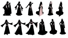 Medieval Dress, Medieval Clothing, Gothic Pattern, Castle Wall, Dress Silhouette, Fantasy, Stencils, Inspiration, Patterns