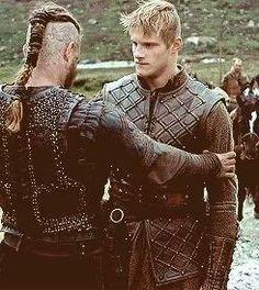 "Ragnar Lothbrok and Björn Ironside from ""Vikings"""