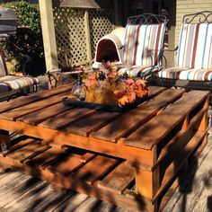 UPDATE: My DIY Outdoor Pallet Table (The Finished Product) | mrs. & the misc.