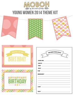"YW 2014 Theme Kit: ""Come Unto Christ"" Great ideas to use for New Beginnings, Evening in Excellence, birthdays, binders, and more! - My Own Brand Of Happy"