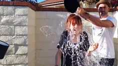 ALS Ice Bucket Challenge- Lindsey Stirling- OMG gavi's face ! That's hilarious