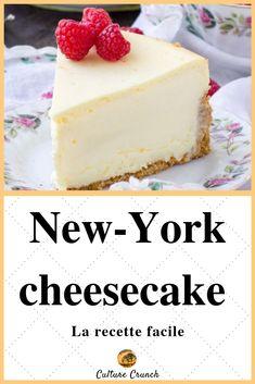 New-York cheesecake : la recette facile - Cheesecake Recipe Baked Cheesecake Recipe, Cheesecake Bites, Chocolate Cheesecake, Vegan Chocolate, Homemade Cheesecake, Caramel Cheesecake, Easy Cake Recipes, Dessert Recipes, Dessert Blog