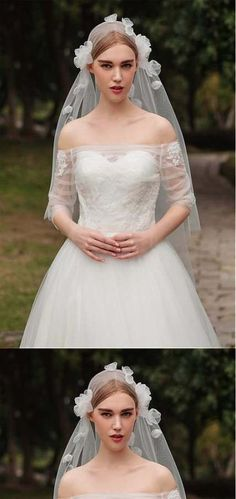Fashionable Tulle Short Wedding Veil With Veil# - Frauen Haar Modelle Glamorous Wedding, Trendy Wedding, Perfect Wedding, Dream Wedding, Flower Veil, Short Veil, Bride Veil, Wedding Veils, Wedding List