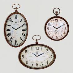 Chantal Oval Vertical Iron Clock | World Market