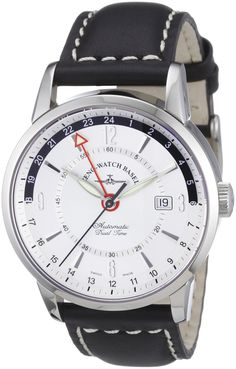 Zeno Watch Basel Herren-Armbanduhr XL Magellano Analog Automatik Leder 6069GMT-g3