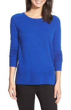 Halogen® Halogen® Crewneck Lightweight Cashmere Sweater (Regular & Petite) available at #Nordstrom