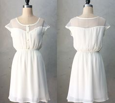 25 Gorgeous Wedding Reception Dresses Under $150:  #7. Floaty Button-Front Dress - $48 from Etsy.