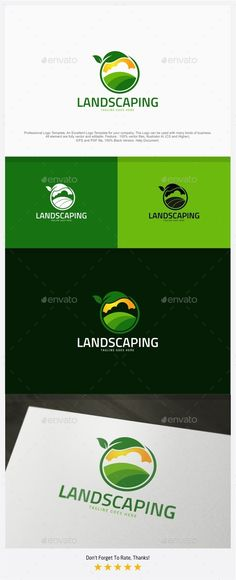 Landscaping / Farm Logo — Vector EPS #gardening #landscape • Available here → https://graphicriver.net/item/landscaping-farm-logo/13179787?ref=pxcr