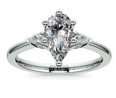 Pear Pear Diamond Engagement Ring in Platinum http://www.brilliance.com/engagement-rings/pear-diamond-ring-platinum