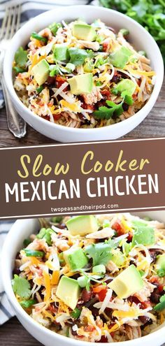You only need 10 minutes to prepare this easy crockpot meal! Slow Cooker Mexican Chicken is a dinner lifesaver. Not only is this Crocktober recipe perfect for busy weeknights, but it is also great for when you have company. Check out the ways you can serve it up! Crockpot Mexican Chicken Recipes, Slow Cooker Mexican Chicken, Healthy Crockpot Recipes, Slow Cooker Recipes, Fun Easy Recipes, Easy Meals, Food Should Taste Good, Company Check, Recipe Using Chicken