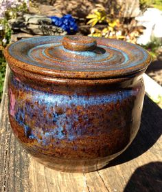 Hand Thrown Bean Pot and Lid With Six Piece by TheFathersMarket, $24.97