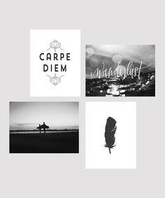 Look at this 'Carpe Diem' Print Set on #zulily today!