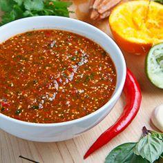 Salsa Naranja (Orange Salsa) A sweet and spicy orange salsa packed with fresh herbs. #foodgawker