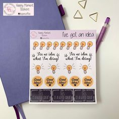 Excited to share this item from my shop: Light bulb stickers Calendar Stickers, Journal Stickers, Printable Stickers, Cute Stickers, Planner Stickers, Bullet Journal Monthly Calendar, Bullet Journal Themes, Lightbulb, Happy Moments