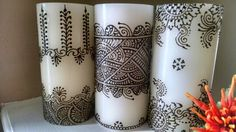 Simple design henna candles
