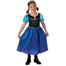 Jurk Prinses Anna uit de Disney animatiefilm Frozen. Anna Classic jurkje gemaakt van 100% polyester en kreukvrij. Een Walt Disney licentie-artikel. Dit heel mooi jurkje heeft korte pofmouwtjes en is bedrukt met folkloristische versieringen. Een echte meisjesdroom. Je kunt jouw dochtertje niet gelukkiger maken dan met dit prachtig prinsessenjurkje. Verkrijgbaar in de maat S (3-4 jaar), M (5-6 jaar) en L (7-9 jaar).