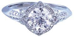 14k white gold round cut diamond engagement ring 1.95ctw by KNRINC, $9299.00
