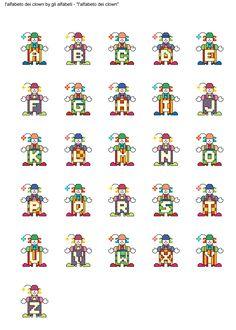 alfabeto dei clown