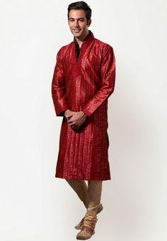 Indian Wedding Kurta Payjama is a very traditional, formal and stylish men's suit. #kurtapayjama www.manawat.in