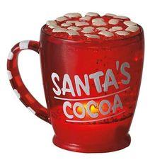 Mini Shimmer Santa's Cocoa Mug 3 inches tall , Seasonal and Everday Mini Shimmer Lights| Mini Shimmer Lights by Midwest CBK $7.00 Shimmer Lights, Cocoa, Santa, Seasons, Mugs, Tableware, Dinnerware, Seasons Of The Year, Tumblers