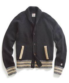 Black Baseball Jacket Sweater - Todd Snyder x Champion