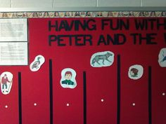 After teaching the lesson on Peter and The Wolf, for an interactive board, students had to match the instruments to the correct characters in Peter and The Wolf.