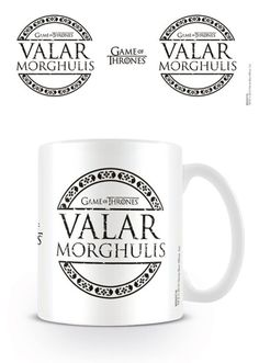 Game of Thrones - Valar Morghulis - Ceramic Coffee Mug. Dishwasher and microwave safe. Capacity: ca 11oz. Official Merchandise. FREE SHIPPING