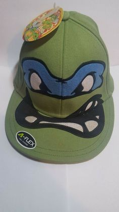 buy online 861e0 97d26 Leonardo TMNT Leo Teenage Mutant Ninja Turtles Hat Green Fitted Cap Size  OSFM  fashion