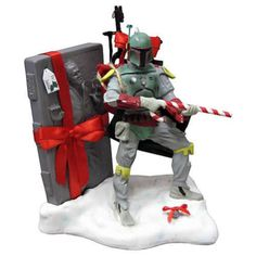 Star Wars Boba Fett with Carbonite Christmas Statue kurt s.adler tablepiece misb
