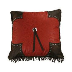 Cheyenne Tooled Square Pillow