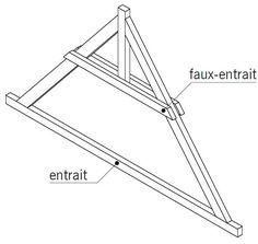 la charpente en bois ferme entrait retrouss toiture. Black Bedroom Furniture Sets. Home Design Ideas