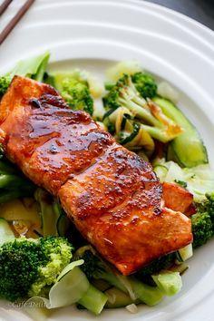 Cafe Delites   Teriyaki Glazed Salmon   http://cafedelites.com