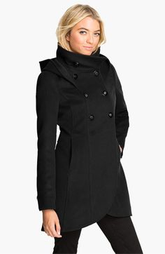 Free shipping and returns on Soia & Kyo Soïa & Kyo Hooded Wool Coat at Nordstrom.com. A bold, buttoned collar and a pretty tulip hemline update a double-breasted wool coat that offers winter warmth and winning style.