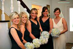 Hydrangeas, the quintessential wedding flower.