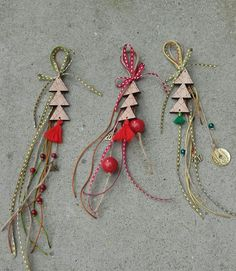 Lucky charms 2017/☆☆/christmas trees/winter/handmade Christmas Trees, Christmas Crafts, Lucky Charm, Decor Crafts, Dream Catcher, Tassels, Charms, Decorations, Drop Earrings