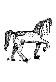 Wood Horse – NaNé Art & Prints