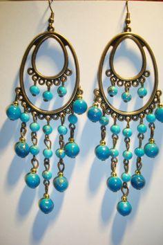 Large Long Indian~Asian Ethnic Boho Chandelier Earrings~ER25~uk ...