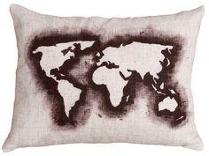 Almofada Mapa Mundi!