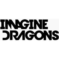 Logos For > Imagine Dragons Logo Font ❤ liked on Polyvore featuring words, backgrounds, quotes, accessories, black fillers and filler