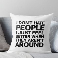 Super soft and durable 100% spun polyester Throw pillow with double-sided print. Cover and filled options. Funny Throw Pillows, Decorative Throw Pillows, My New Room, My Room, Room Ideas Bedroom, Bedroom Decor, King Quotes, Deep Quotes, Funny Quotes