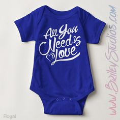 All You Need Is Love Newborn Baby Outfit, Birth Announcement, Coming Home Outfit, Personalized Baby Shower Gift, Gender Neutral Baby Clothes by BrileyStudios on Etsy